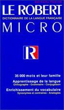 Le Robert Micro: Dictionnaire De La Langue Francai