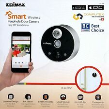 EDIMAX IC-6220DC WIRELESS DOOR DOORBELL PEEPHOLE IP CAMERA + REMOTE VIEWING