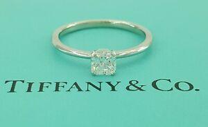 0.43 ct Tiffany & Co Platinum True ® Diamond Solitaire Engagement Ring F/VS2 $4k