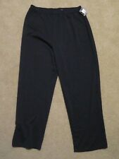 New Women's Mossimo Stretch Solid Black Casual Comfy Pants Plus Size 18W - 20W
