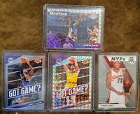 2019-20 Mosaic Lakers Lot (4) - Lebron James Montage Prizm, Anthony Davis Prizm