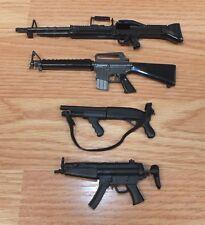 Genuine 21st Century Lot of 4 Action Figure / G.I. JOE Size Toy Plastic Guns