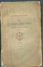Les contes de fées EO 1881 tome II Madame d'Aulnoy Enfantina