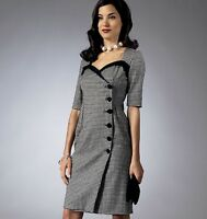 From UK Sewing pattern Wrap Dress 40's inspired 6-14 #5953