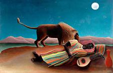 Sleeping Gypsy by Henri Rousseau A1 High Quality Canvas Print