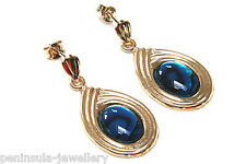 9ct Gold Abalone Paua Shell Oval Drop Earrings Made in UK Gift Boxed