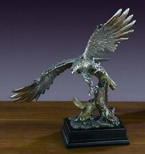 LARGE Soaring Pewter Eagle 14 x 16.5  Beautiful Bronze Statue / Sculpture