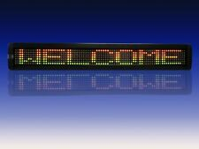 """Indoor Tricolor LED Programmable Display Sign Wireless Remote 26""""x4"""" 80x7"""