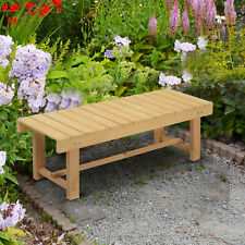 More details for outdoor garden bench patio loveseat fir solid wood 2 person water-resist - 1.1m