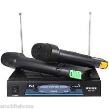 WEISRE WM- 03v Karaoke Inalámbrico DE MANO VHF Transmisor Micrófono Set
