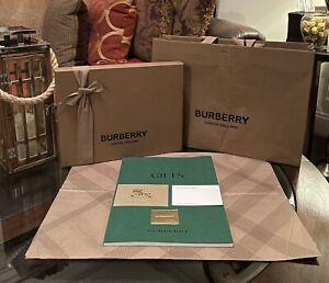 Authentic Burberry London England Gift Box,Shopping Bag,Envelope,thank You Card