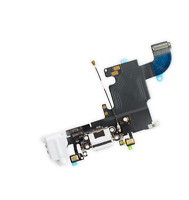 OEM White Charging Port Headphone Jack Mic Audio Flex Cable For iPhone 6S 4.7''