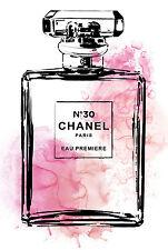 Vintage Chanel 5 pink model  photo Framed Poster Canvas  Print wall CHOOSE