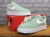 NIKE LADIES AIR FORCE 1 07 LV8 PISTACHIO FROST SUEDE TRAINERS VARIOUS SIZES T
