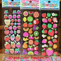 10 Sheet Bubble Stickers 3D Cartoon KIds ClassicToys Sticker School Reward Gift