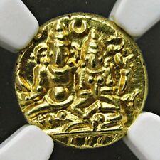 India Vijayanagara, Gold Pagoda NGC MS-64, Devaraya I, Full script, Very Rare