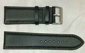 Pulsera Correa de Reloj Piel Legítima Cuero 26 mm Negro | Alomada 234