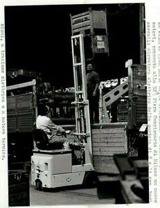 OM Italian Fiat Fork Lift Truck Original Photograph & Press Release 1974