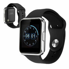 """Black GW08 1.54"""" Bluetooth Smart Wrist Watch Phone TF&SIM For Android iPhone"""