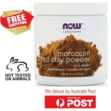 MOROCCAN RED CLAY  Powder Now Foods Solutions 170 g  FACE MASK FACE PEEL