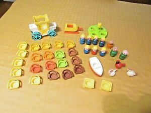 Vintage FISHER PRICE Little People Toys Lot  40 pieces