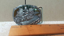 Vintage Buckles of America Motorcycle Buckle #BA-263 WITH COLORED INLAYS- NEW !