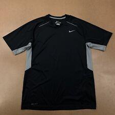 Nike Dri-Fit Men's Size Medium Black Gray Short Sleeve Athletic T-Shirt
