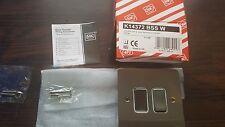 MK K14372 BSS W 2g 20a 2 way monobloc switch (white insert)