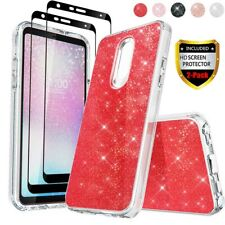 For LG Stylo 6/5/4 Plus Glitter Bling Rugged Case+Full Cover Screen Protector