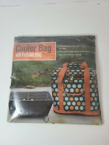 Ulta Full Size Cooler Bag With Foldable BBQ Grill Easy Care Storage Picnic