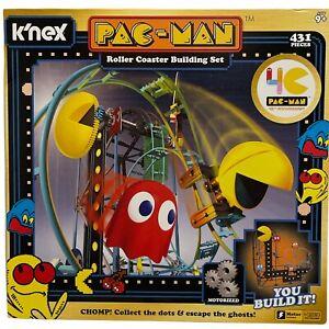 K'NEX Pac-Man 40th Anniversar Roller Coaster Building Set Battery Powered Motor