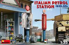 Miniart 1:35 scale model kit - Italian Petrol Station 1930-10940's MIN35620
