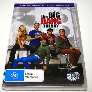 DVD, The Big Bang Theory - Complete Third Season, 3 Disc, Region 4, NEW