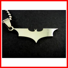 NEW SUPER HERO BATMAN Stainless Steel Chain Pendant Fashion Necklace + CHARM