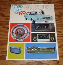 Original 1974 Ford Accessories Sales Brochure 74 Mustang II Thunderbird Torino