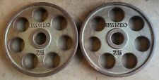 IVANKO Revolver Grip Pair of 25lb Olympic Weight Plates 25 lb 50lbs total weight