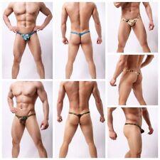 Sexy Men's Camo Underwear G-Strings Thongs Boxers Hip Briefs Panties Underpants