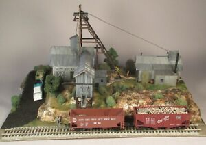HO Campbell Scale Models #388, Silver Spur Mine, Built, Detailed, Lighted