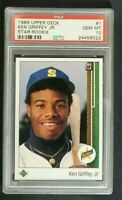 1989 KEN GRIFFEY JR. UPPER DECK ROOKIE #1 PSA GRADED 10 💎GEM MINT BASEBALL CARD