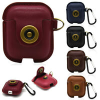 Retro Faux PU Leather Pouch Bag Protective Case Cover For Apple AirPods