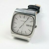 Vintage SEIKO LORD QUARTZ 7853-5000 STAINLESS TV DIAL Mens Watch JAPAN