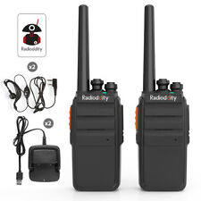 2x Radioddity R2 UHF 400-470MHz Walkie Talkie Scrambler 16CH 1200mAh > BF-888s