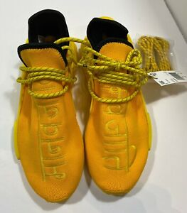Adidas Hu NMD Pharrell Williams Human Race Extra Eye Yellow Mens Size 10 New