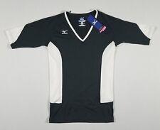 MIZUNO Women's Short Sleeve Volleyball Shirt | Black/White | Medium | NWT