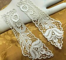 "VINTAGE LACE collar 7"" Rayon Cotton Dyeable 1pair Made in USA #2004RC"