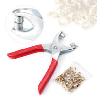 100 Eyelets + Grommet Pliers Eyelets Set Tools For DIY Shoes Clothes Manual