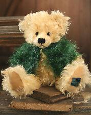 Teddy Bear 'Brodie' Settler Bears Handmade Collectable Gift Green Cardigan 30cms