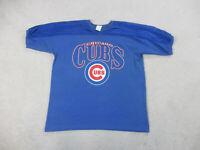 VINTAGE Chicago Cubs Shirt Adult Extra Large Blue Red MLB Baseball Mens 90s B43*