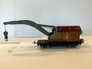 *RARE* 1930 PREWAR LIONEL TRAINS-NO. 810 OG 10-TON CRANE-COPPER CAPS O-GAUGE VG