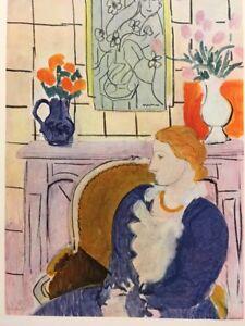 Henri Matisse,Blue Dress In Ochre Arm-chair,rar,Offs.Lithograph 1939,Platesigned